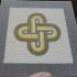 Roman Mosaic - 4 colours King Solomon knot image