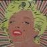 Marilyn Monroe Mosaic - 6 colors printable mosaic image