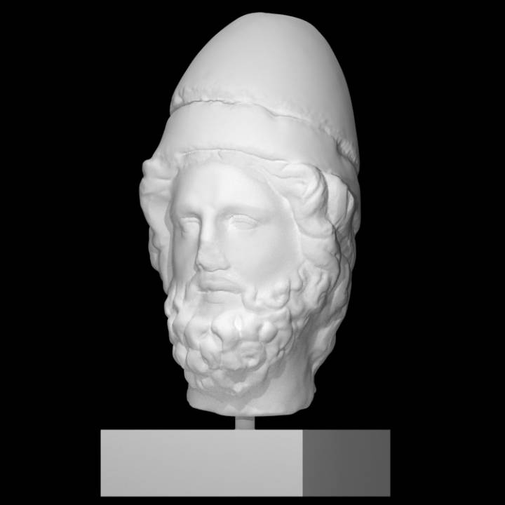 Head of a Bearded Man with Headgear