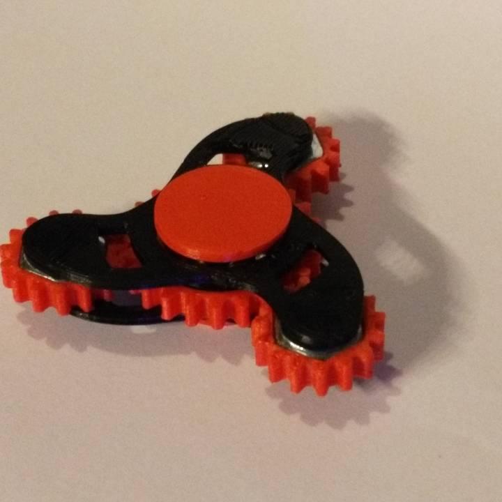 Geared Tri Fidget Spinner