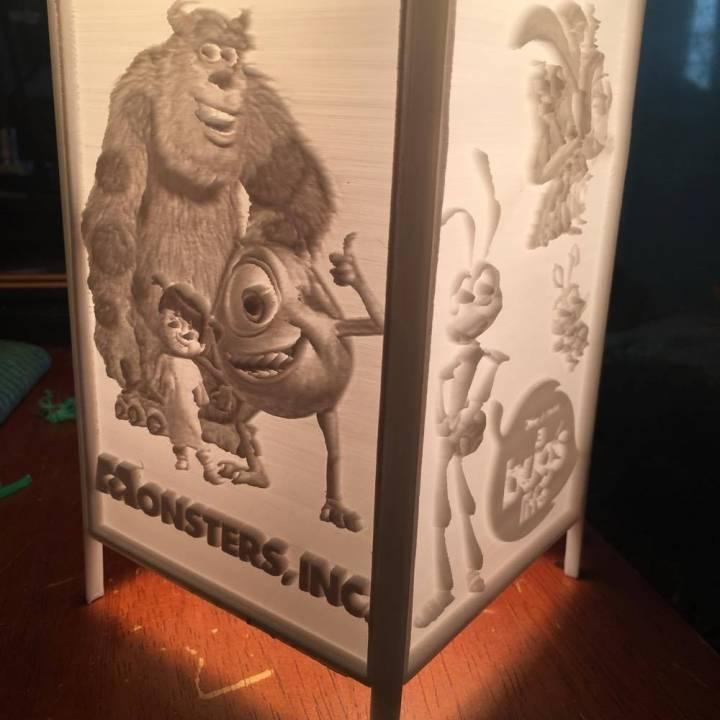 3d printable disney pixar lamp shade by daniel beek disney pixar lamp shade image mozeypictures Images