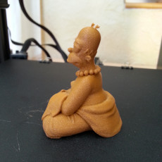 Picture of print of homer buddha