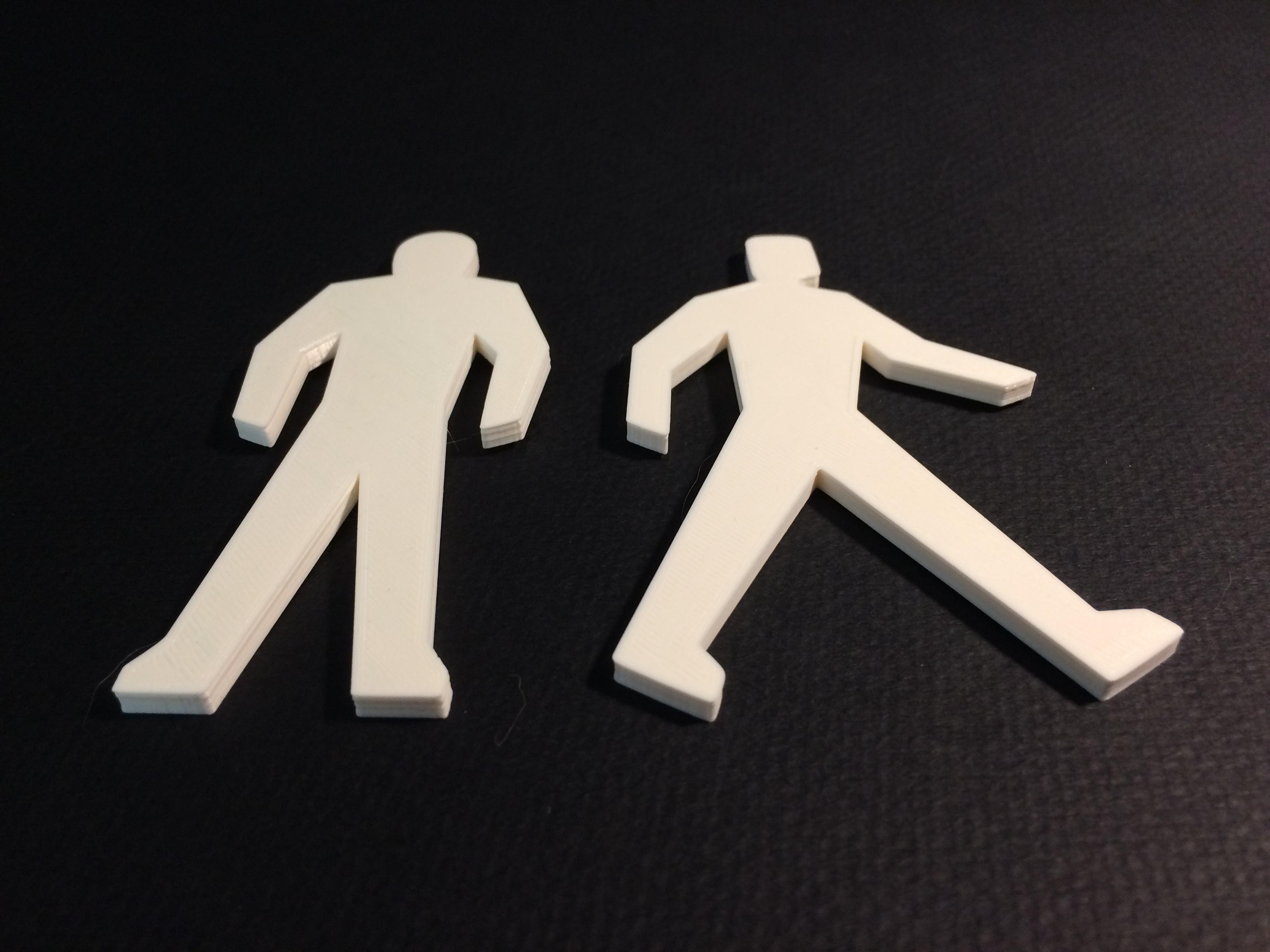 'Don't Walk' & 'Walk' Symbols image
