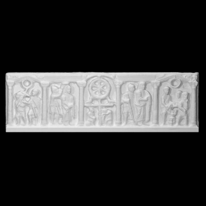 """""""Column"""" Sarcophagus with Anastasis and Scenes of Passion"""