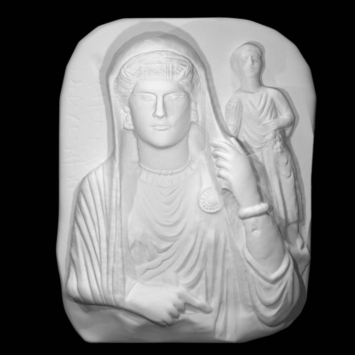 Funerary Bust of a Woman and Child