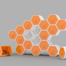 The HIVE - Stackable Hex Drawers