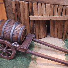 Picture of print of 28mm Barrel Cart