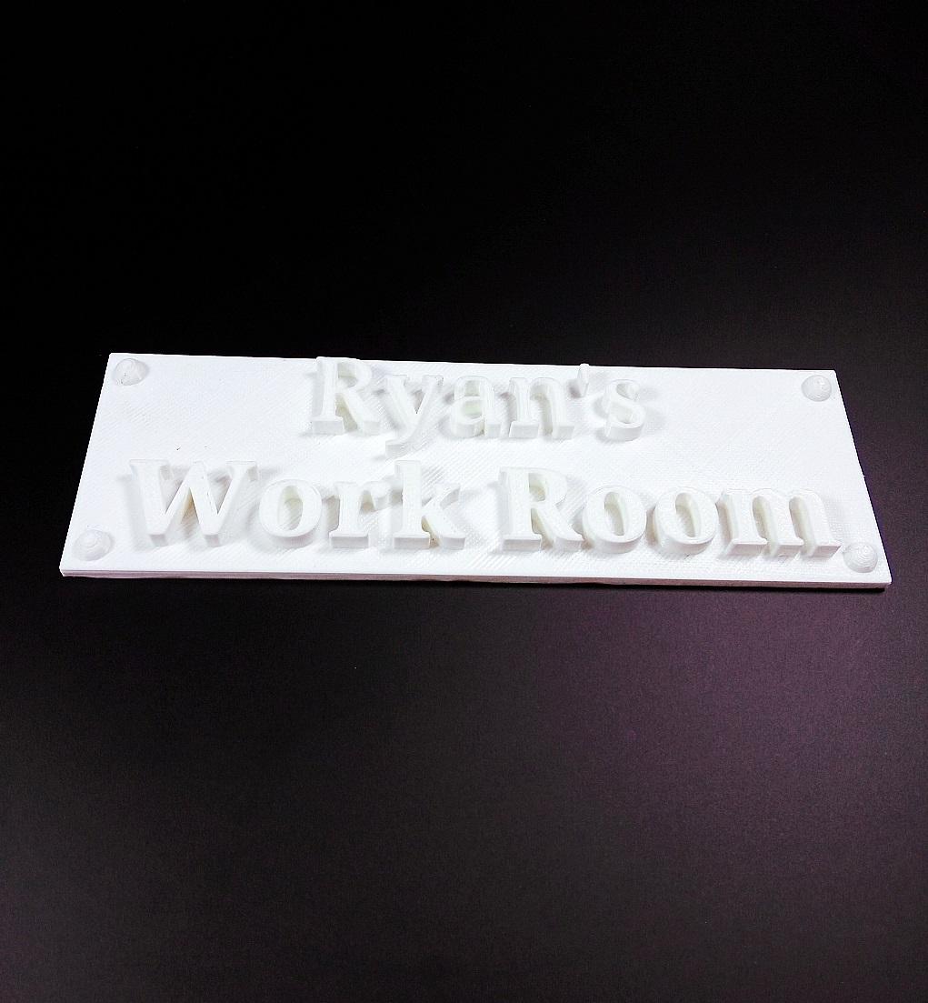 Work Room Sign image