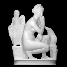 Statue of Aphrodite in a Crouching Position, with a Dolphin