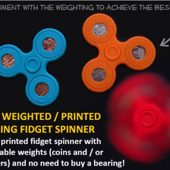 Adjustable Coin Weighted Fidget Spinner