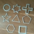 Geometric cookie cutter image