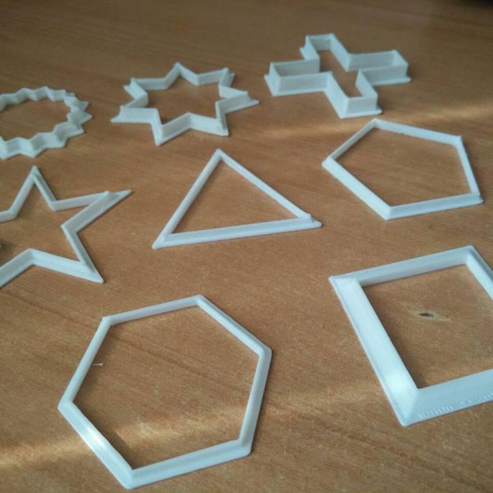 Geometric cookie cutter