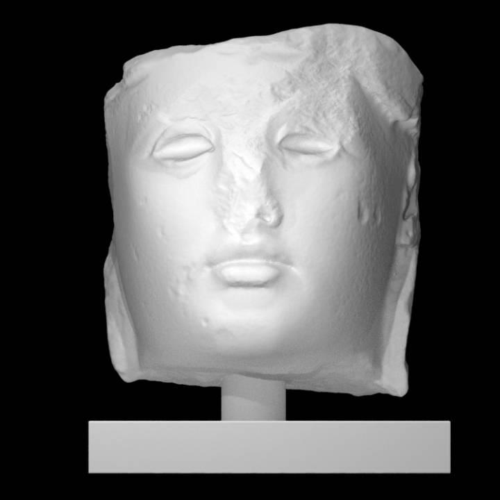 Marble Head of Athena