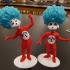 Thing 1 and Thing 2 print image