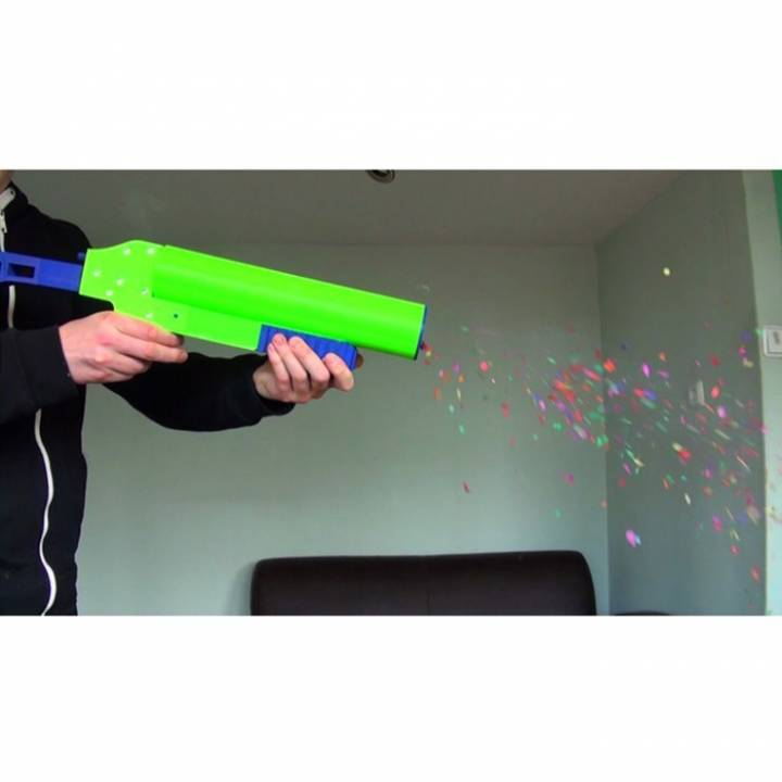 3D Printed Party Popper Pistol