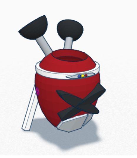 Red Signal Samurai Pot