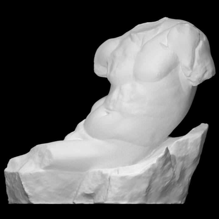 Statue of a God Lying on a Rock