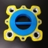 Giant fidget spinner, 6020 bearing and M27 + M10 nuts image