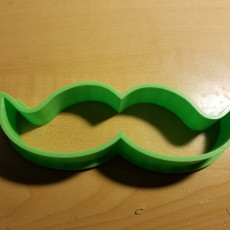 Picture of print of moustache cookie cutter