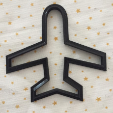 Picture of print of plane cookie cutter
