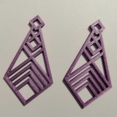 Picture of print of Simple Earring - Lindo Shapes