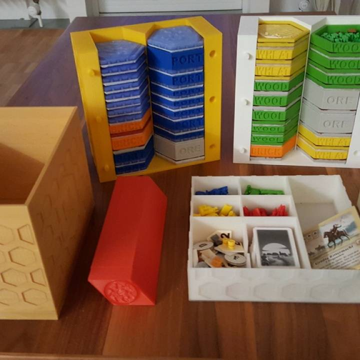 photograph about Settlers of Catan Printable identify 3D Printable storage settler of catan via Moe Zarrella
