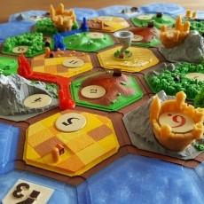 Castles on catan (variant: settler of catan)