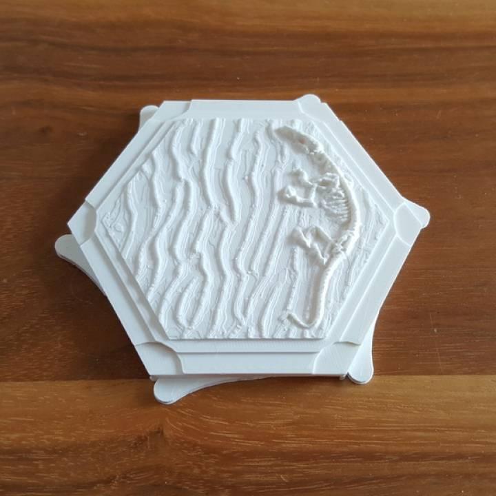 graphic relating to Settlers of Catan Printable named 3D Printable settler of catan interlocking tiles through Moe Zarrella