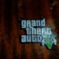 Picture of print of Grand Theft Auto V keychain