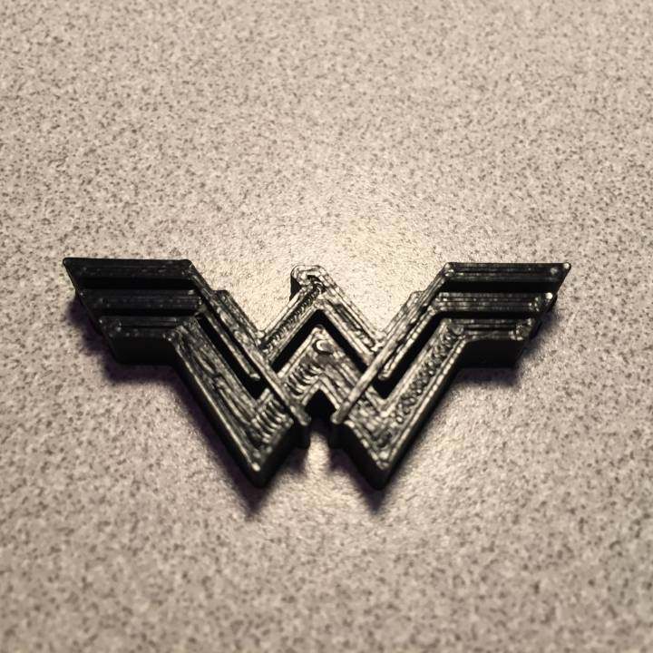 picture relating to Wonder Woman Printable Logo identified as 3D Printable Marvel Female 2017 via T H