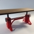 Industrial Vintage Crank Table image