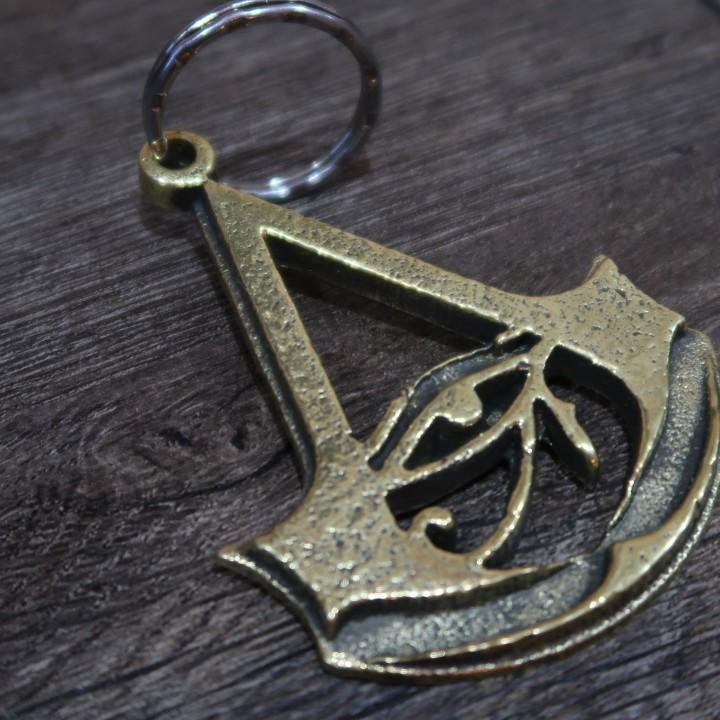 3d Print Of Assassins Creed Origins Logo Keychain By Mp Dragon