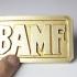 BAMF Belt Buckle print image