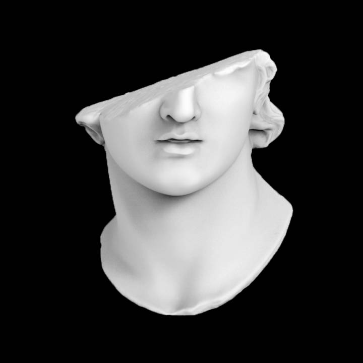 Fragmentary Colossal Head of a Youth