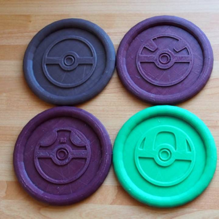 photograph about Printable Pokeball identify 3D Printable Pokemon Pokeball Coasters through Daniel Melville