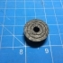 """1"""" OD, 0.25"""" ID Single Race Radial Bearing with Retaining Cage using Airsoft Pellets image"""