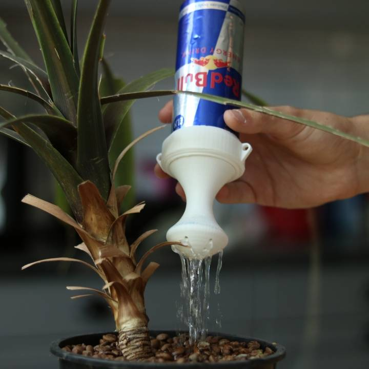 watering Red Bull can