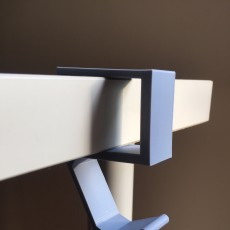 Picture of print of under desk headphone holder 1.5""