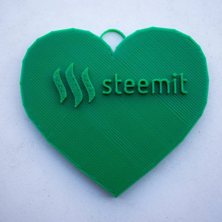 Steemit Heart Keychain