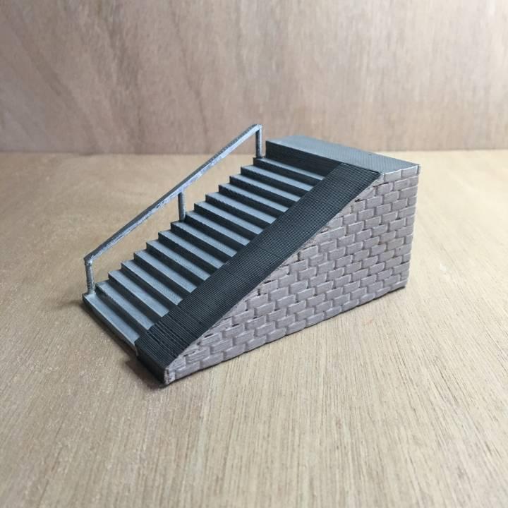 3D Printable Fingerboard Stairs Ramp