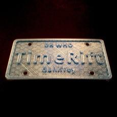 TARDIS Licence Plate