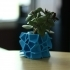 Voronoi Flower Pot - Cube Shape image