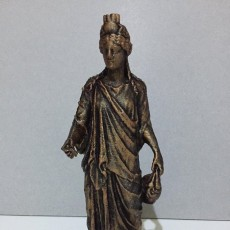 Picture of print of Statue of the Egyptian Goddess Isis