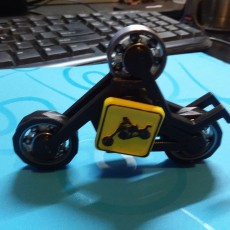 Picture of print of MOTORCYCLE STICKMAN FIDGET SPINNER