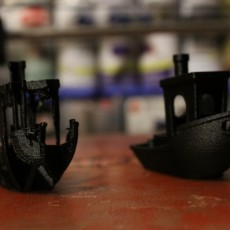 """Picture of print of Voronoi """"Broken Benchy""""- The true(and not so jolly) torture test"""