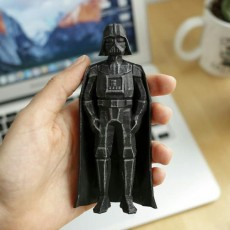 Picture of print of Low-Poly Darth Vader Thick Cape Remix