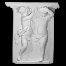 Two Putti Supporting and Architrave