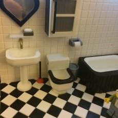 Miniature trashcan  (bathroom)