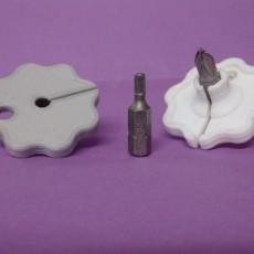 Screwing tool 6 sides - 6.3mm / Outil de vissage 6 pans