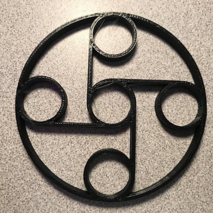 Fidget Spinner Round Frame